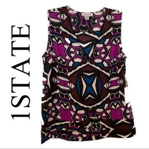1.STATE V-Neck Sleeveless Blouse